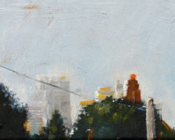 """City View"" 2015 oil on canvas. 13x18cm"