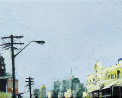 """Darling Street Balmain"" 2015 oil on canvas. 13x18cm"