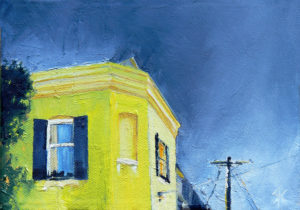 """The Yellow House"" oil on canvas. 5x7 inches"