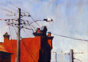 """Sunlit Wall (Rozelle)"" oil on canvas. 13x18cm"