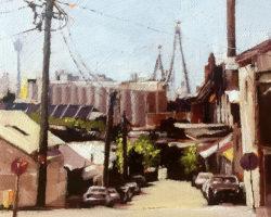 """Brent & MacKenzie"" 2016 oil on canvas 15x15cm"