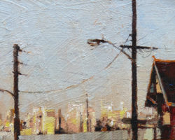 """""""City From Robert"""" 2015 oil on canvas. 13x18cm"""