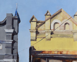"Peninsula Rooftops 2016 - ""Darling Street (Rozelle)"". Oil on linen. 33x33cm. Private Collection"