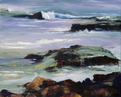 """Rocks & Sea"" 2013 oil on canvas. 64x64cm. Artists collection. Fine Art prints are available."