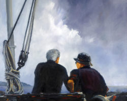 FINALIST: ANL Maritime Awards 2012 - Sea Dogs. Oil. 91x91cm. ANL Collection.  (limited edition prints available from Suzy King)