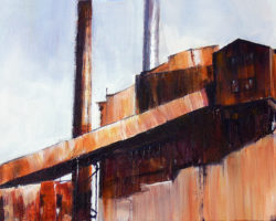 """Industrial Beauty"" Articulate exhibition 2014. Acrylic on canvas 31x61cm. Private Collection"
