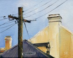 """Theodore Street"" 2012 oil on canvas. 13x18cm"