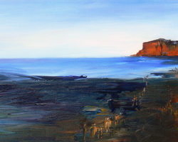 """Walkabout"" 2012. Acrylic on canvas. 40x104cm. Private Collection"