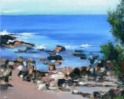 """Water's Edge"" 2013. Oil. 20x20cm."