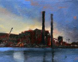 """White Bay Nocturne"" 2015 oil on canvas. 13x18cm"