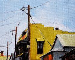 """Cook Street Terrace"" 2017 oil on canvas. 18x13cm."