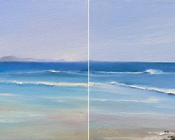 Far North. 2011. Oil. 20x40cm (pair). Available from Suzy King.