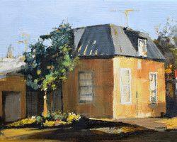 """""""Evans & Carrington"""" 2016 oil on canvas. 13x18cm. Commission."""