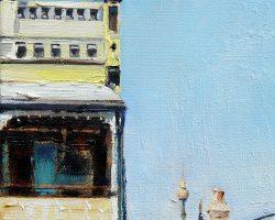 """Evans Street"" 2015 oil on canvas. 15x15cm"