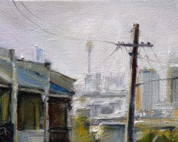 """Mansfield Street"" 2011 oil on canvas. 13x18cm"