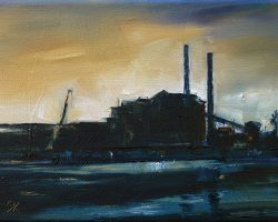 """Study for Disused"" 2011 oil on canvas. 13x18cm"
