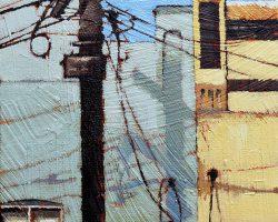 """""""Rozelle Pastel""""  2018. Oil on canvas, 18x13cm. SOLD"""