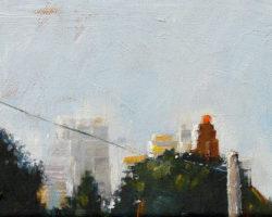 """City View"" 2015 oil on canvas. 13x18cm."