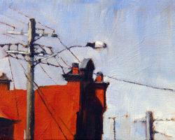 """Sunlit Wall (Rozelle)"" 2013 oil on canvas. 13x18cm"