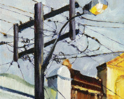 """""""A Rozelle Afternoon"""" 2012 oil on canvas. 15x15cm"""