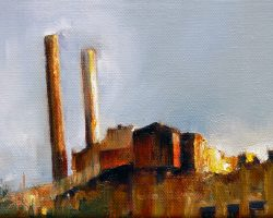 """Burning Sun"" 2013 oil on canvas. 13x18cm"