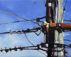 """""""Dock & Cover"""" 2012 oil on canvas. 13x18cm"""