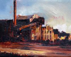 """Earth Colours 2014 oil on canvas. 13x18cm"