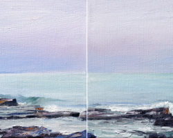"""Out There"" 2012. Oil. 20x40cm (pair).  Private Collection"
