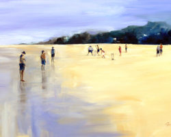 FINALIST: Publishers Cup Cricket Art Prize (international) 2010 - Beach Cricket. Oil. 61x91cm. Private Collection.