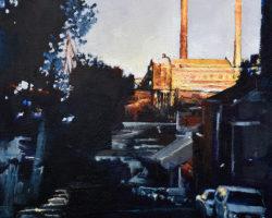 """Setting Sun"" 30.5x30.5cm. Oil. 2016. Private Collection"