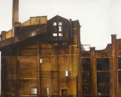 Power Station (tryptich) 76x228cm. Oil. 2016. Available from Suzy King.
