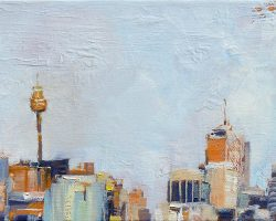 """City Skyline"" 2015 oil on canvas. 13x18cm"