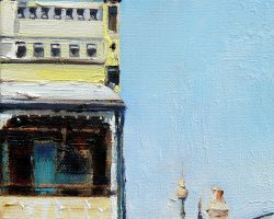 """Evans Street"" 2015 oil on canvas. 15x15cm"