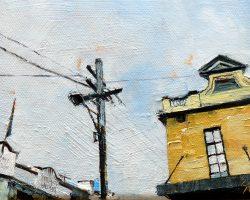 """Locks & London"" 2014 oil on canvas. 13x18cm"