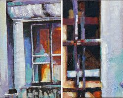 """Close Up #3&4"" 2014. (pair) oil on canvas. 15x30cm"