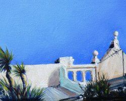 """Roof on Little Beattie"" 2011 oil on canvas. 13x18cm"