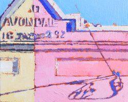 """""""Avondale""""  2018. Oil on canvas, 18x13cm."""