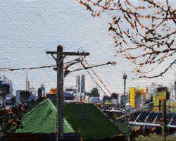 """Rozelle Green""  2018. Oil on canvas, 13x18cm."