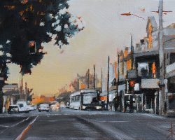 """Darling Street (Rozelle)"" 2019. Oil on canvas, 13x17cm."