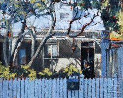 """""""Afternoon Light"""" 2021. Oil on canvas. 15x15cm. Basking in the sunshine at Rozelle. COMMISSION"""